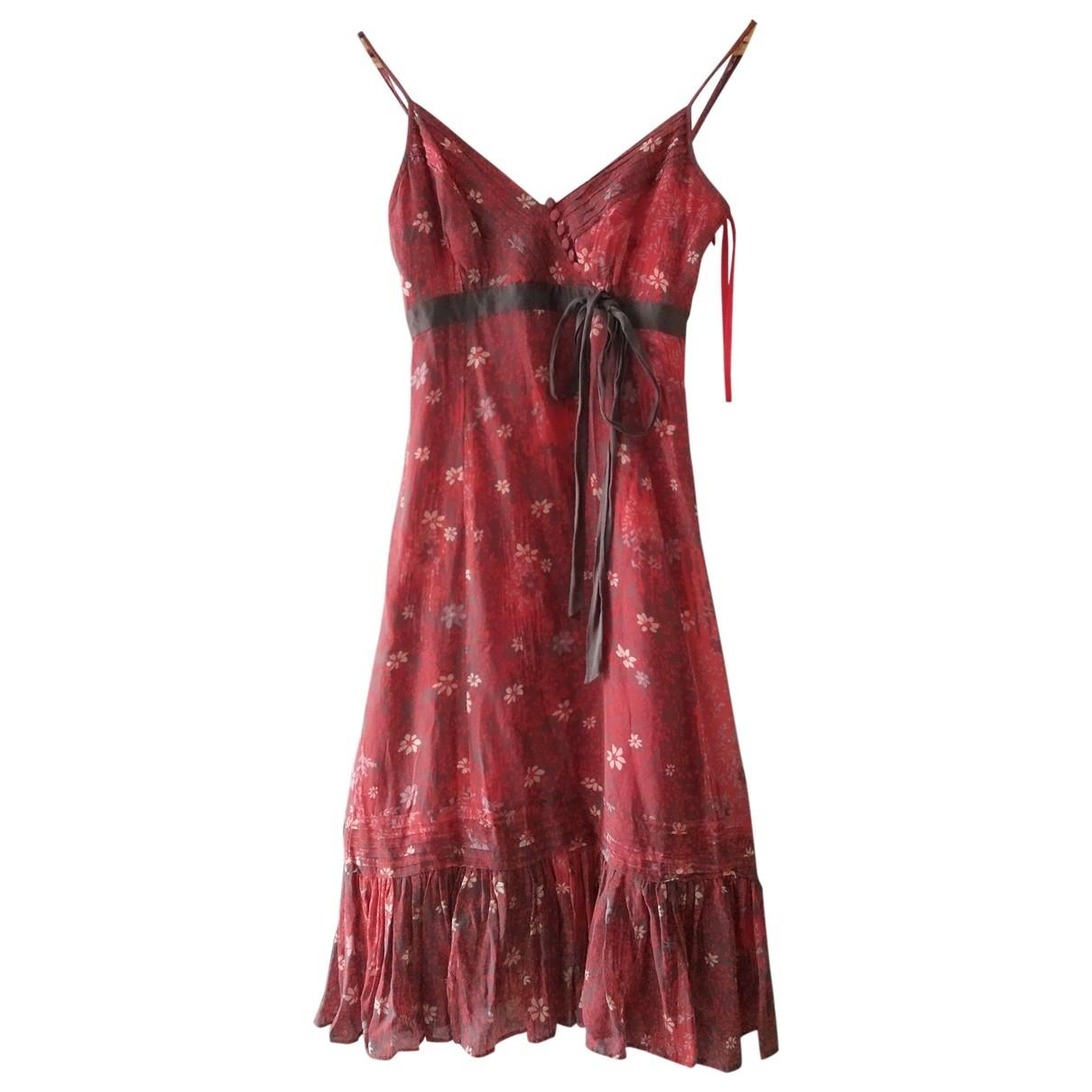 Ted Baker - Robe   pour femme en soie - rouge