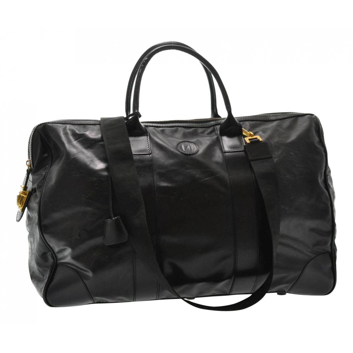 Fendi N Black Leather Travel bag for Women N