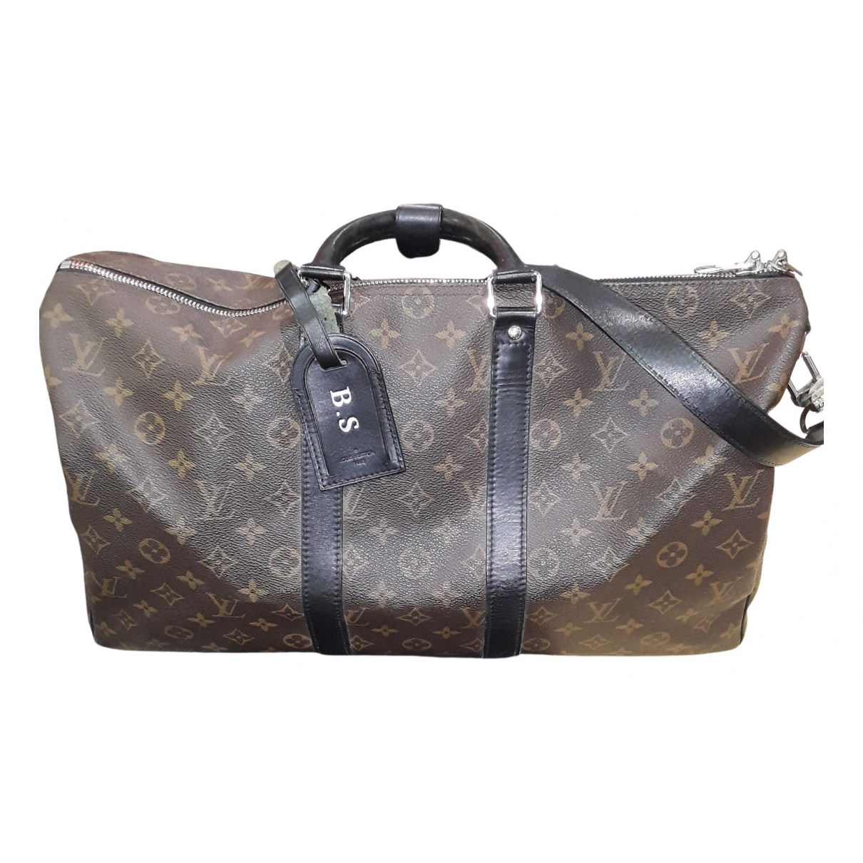 Louis Vuitton Keepall Brown Cloth bag for Men N