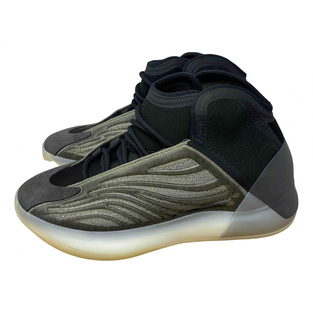 Yeezy X Adidas - Baskets QNTM BSKTBL pour homme en suede - gris