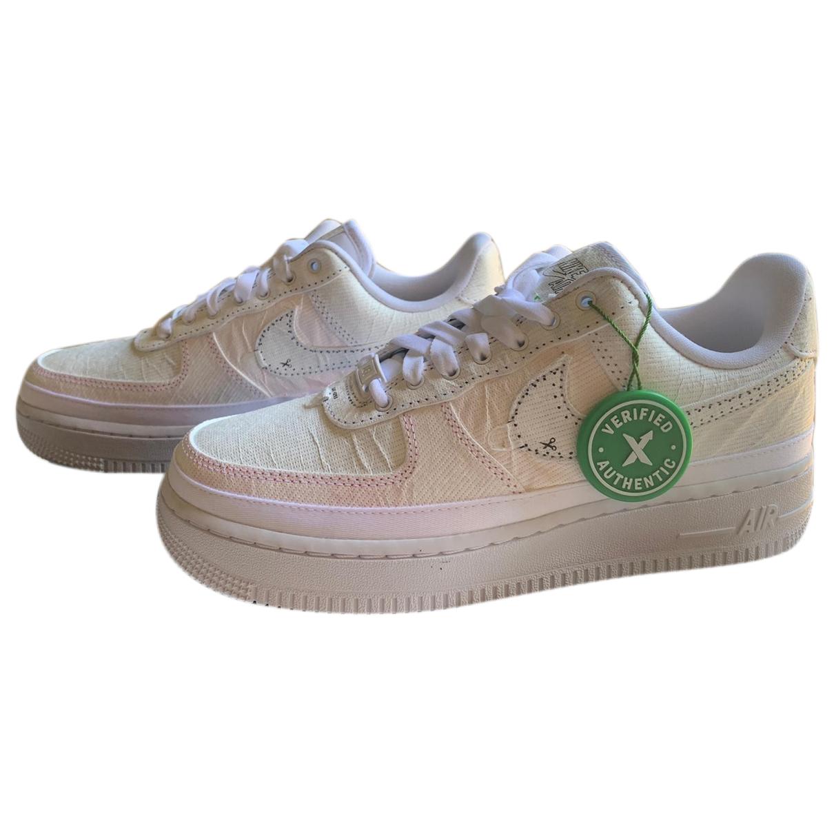 Nike Air Force 1 White Cloth Trainers for Women 38 EU