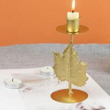 Kerzenhalter mit Blatt Design