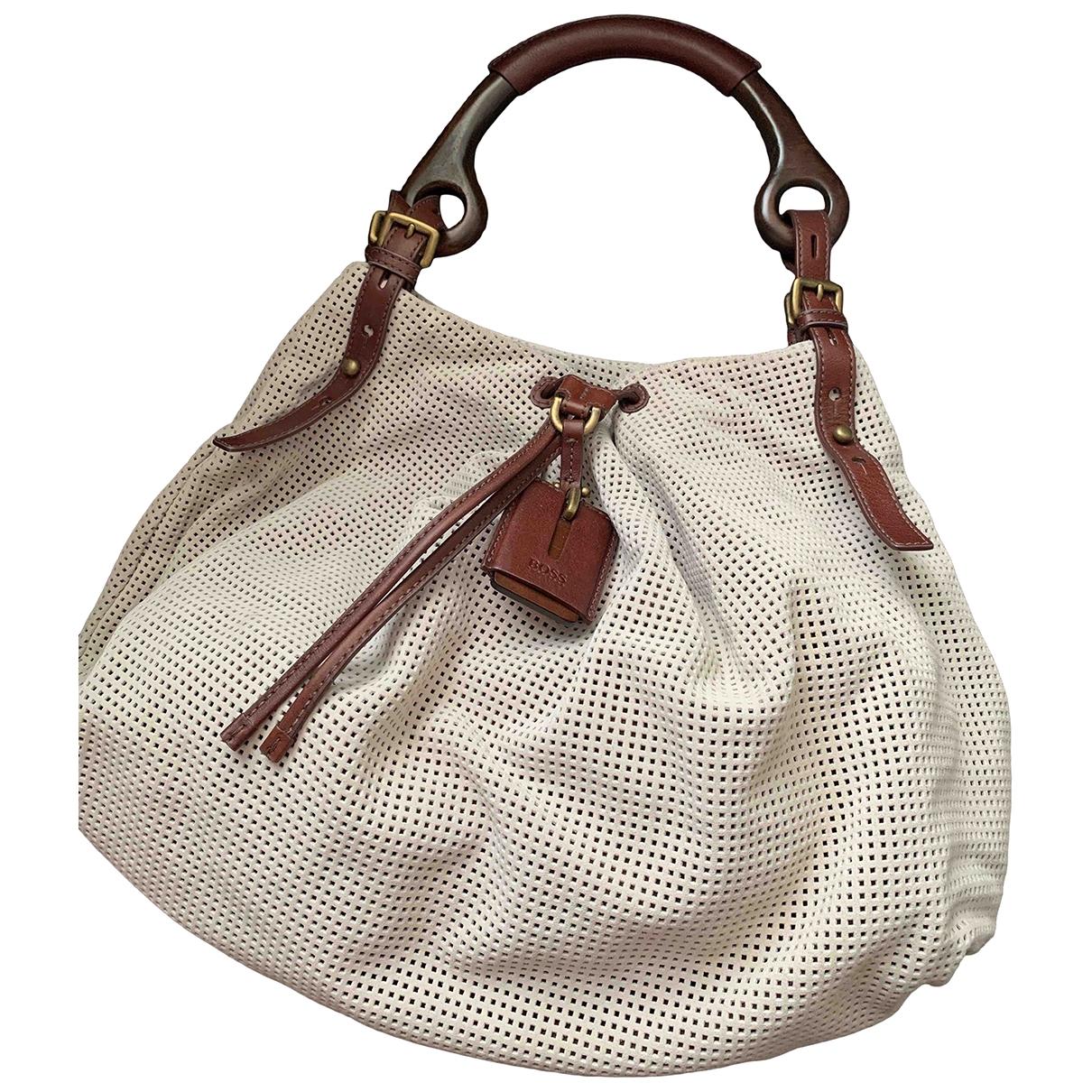 Boss \N Handtasche in  Beige Veloursleder