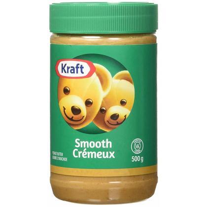 Beurre de cacahuètes lisse Kraft, 500 g