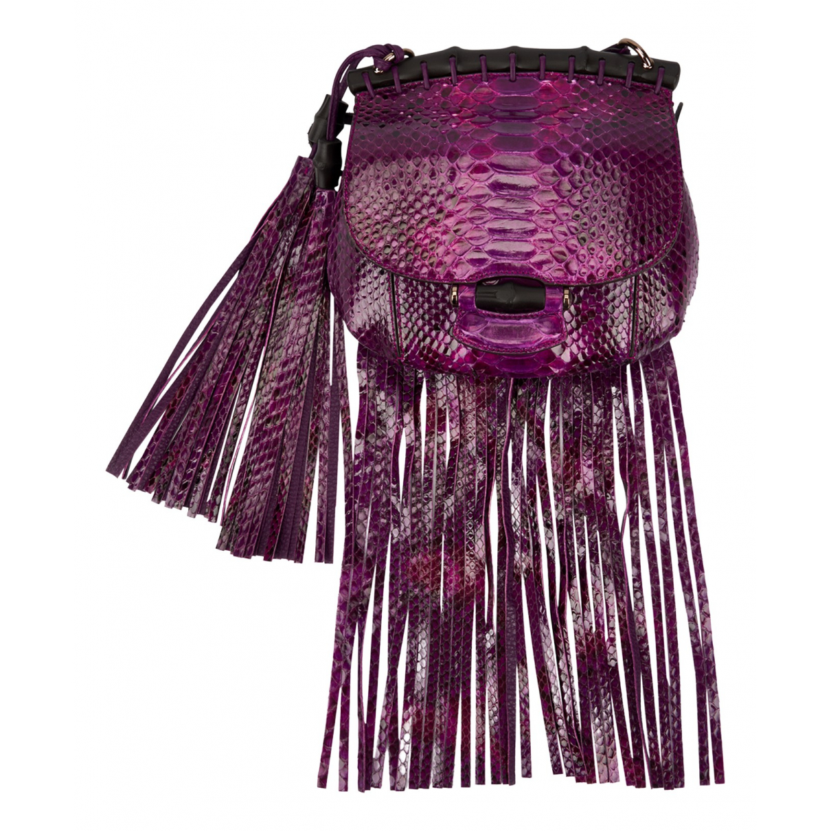 Gucci Bamboo Purple Python handbag for Women N