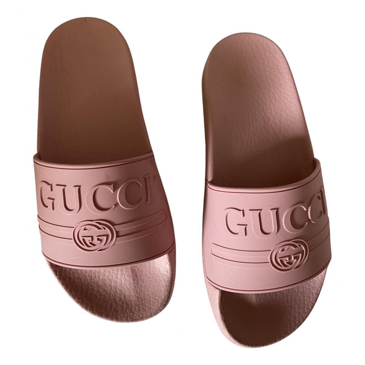 Gucci \N Sandalen in  Rosa Kautschuk