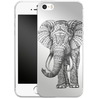 Apple iPhone 5 Silikon Handyhuelle - Ornate Elephant von BIOWORKZ