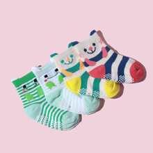 4pairs Baby Cartoon Graphic Socks