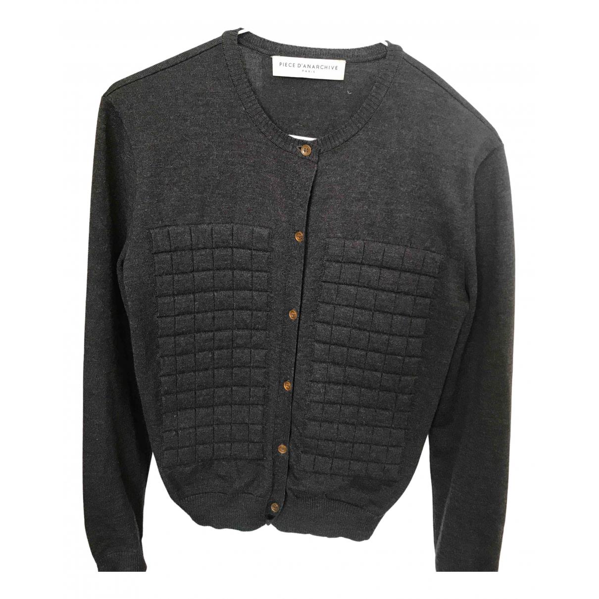 Piece Danarchive - Pull   pour femme en laine - anthracite