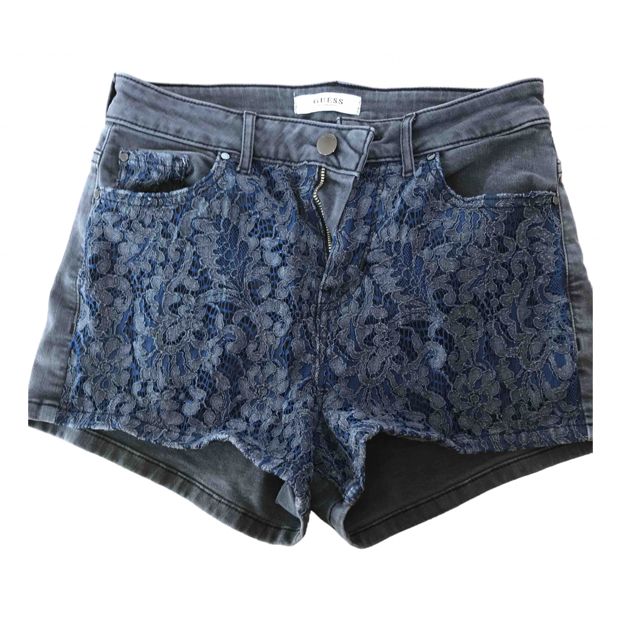 Guess \N Anthracite Denim - Jeans Shorts for Women 36 FR