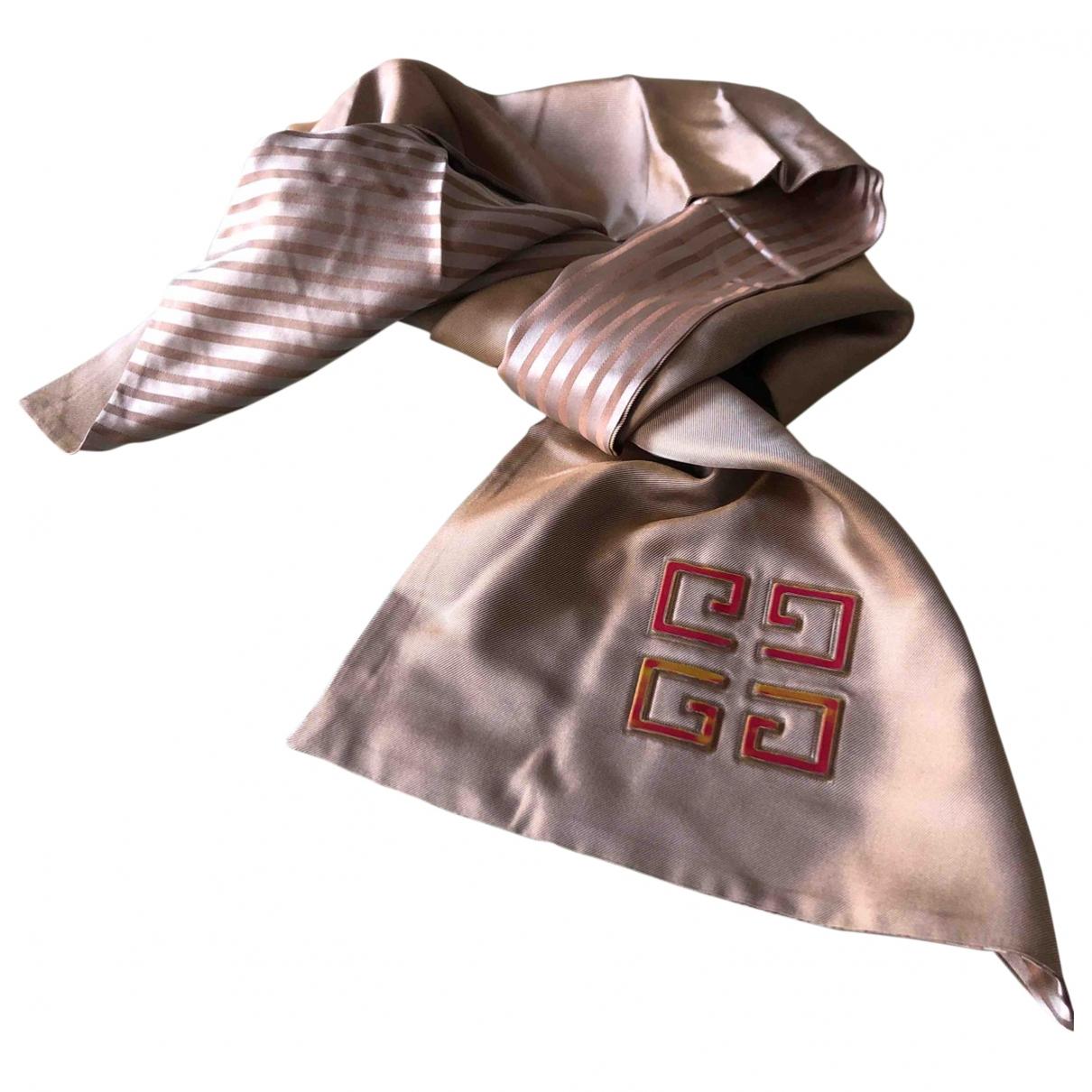 Givenchy \N Schal in  Beige Seide