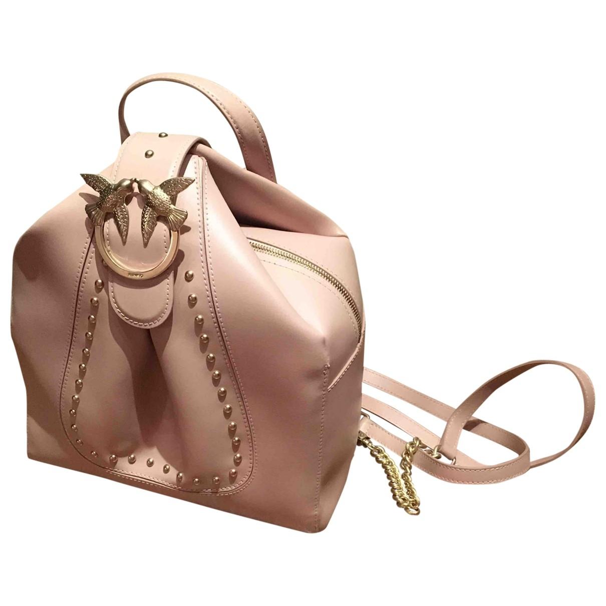 Mochila Love Bag de Cuero Pinko