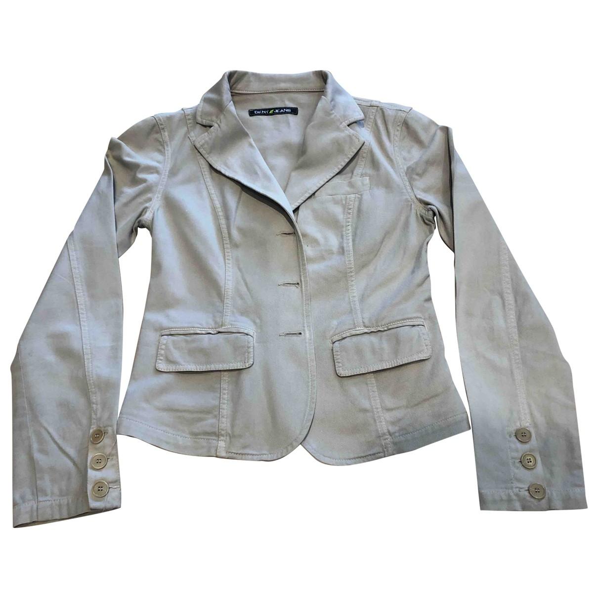 Dkny - Veste   pour femme en coton - beige