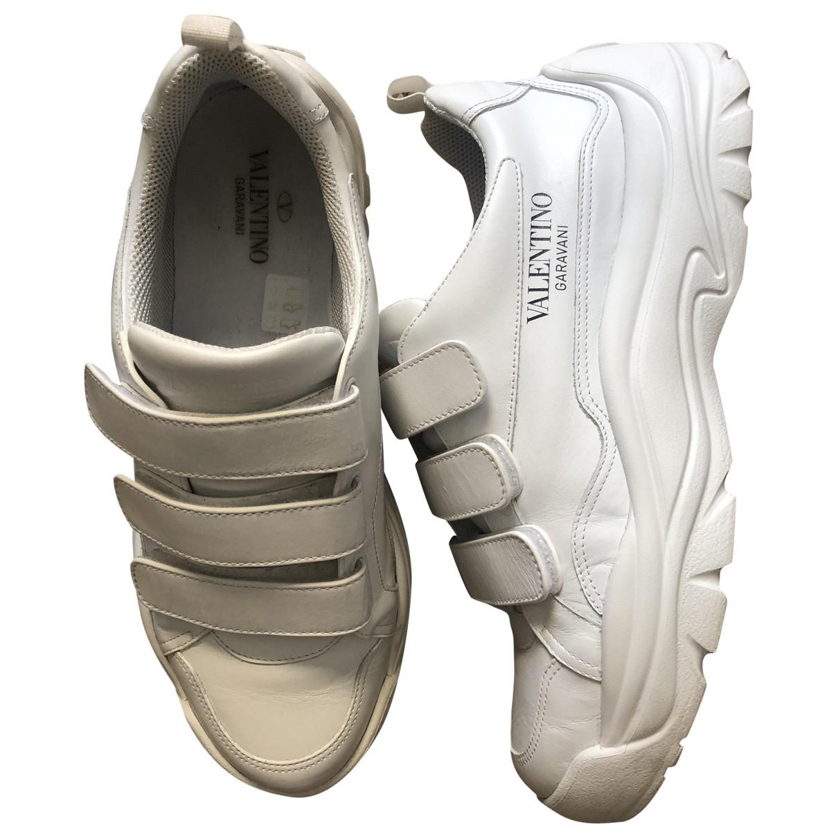 Valentino Garavani \N White Leather Trainers for Men 44 EU