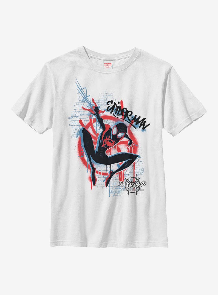 Marvel Spider-Man Miles Morales Graffiti Spider Youth T-Shirt