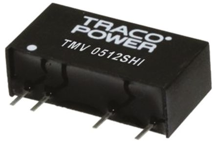 TRACOPOWER TMV HI 1W Isolated DC-DC Converter Through Hole, Voltage in 10.8 → 13.2 V dc, Voltage out 3.3V dc