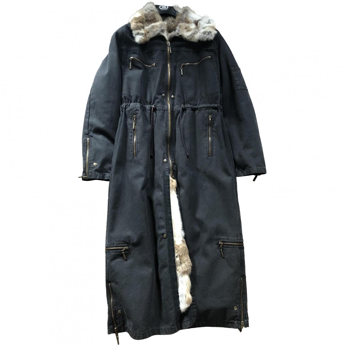 Just Cavalli \N Blue Denim - Jeans coat for Women 44 IT