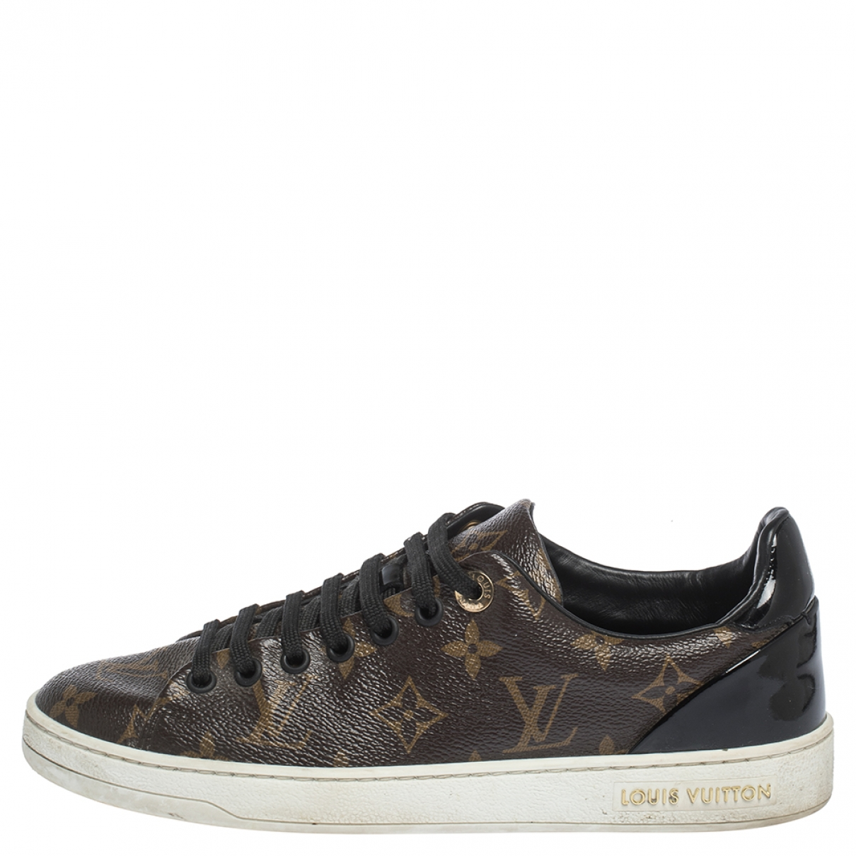 Louis Vuitton FrontRow Brown Leather Trainers for Women 5.5 US