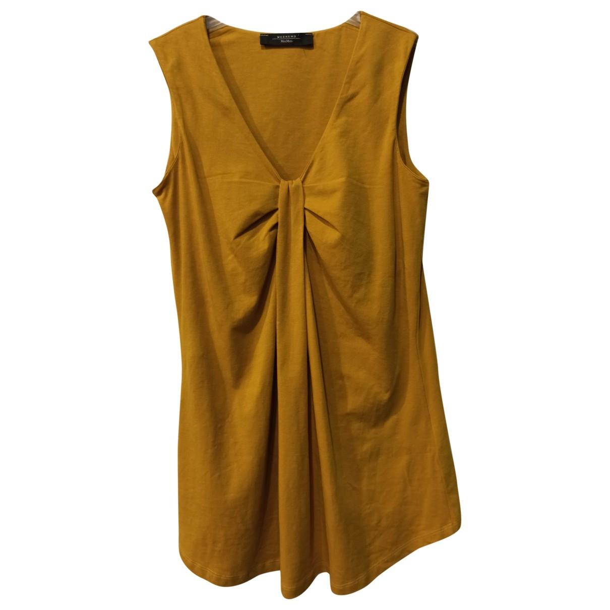 Max Mara Weekend - Top   pour femme en coton - jaune