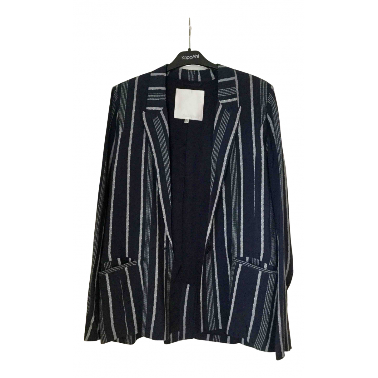 Non Signé / Unsigned Oversize Navy jacket for Women 38 FR