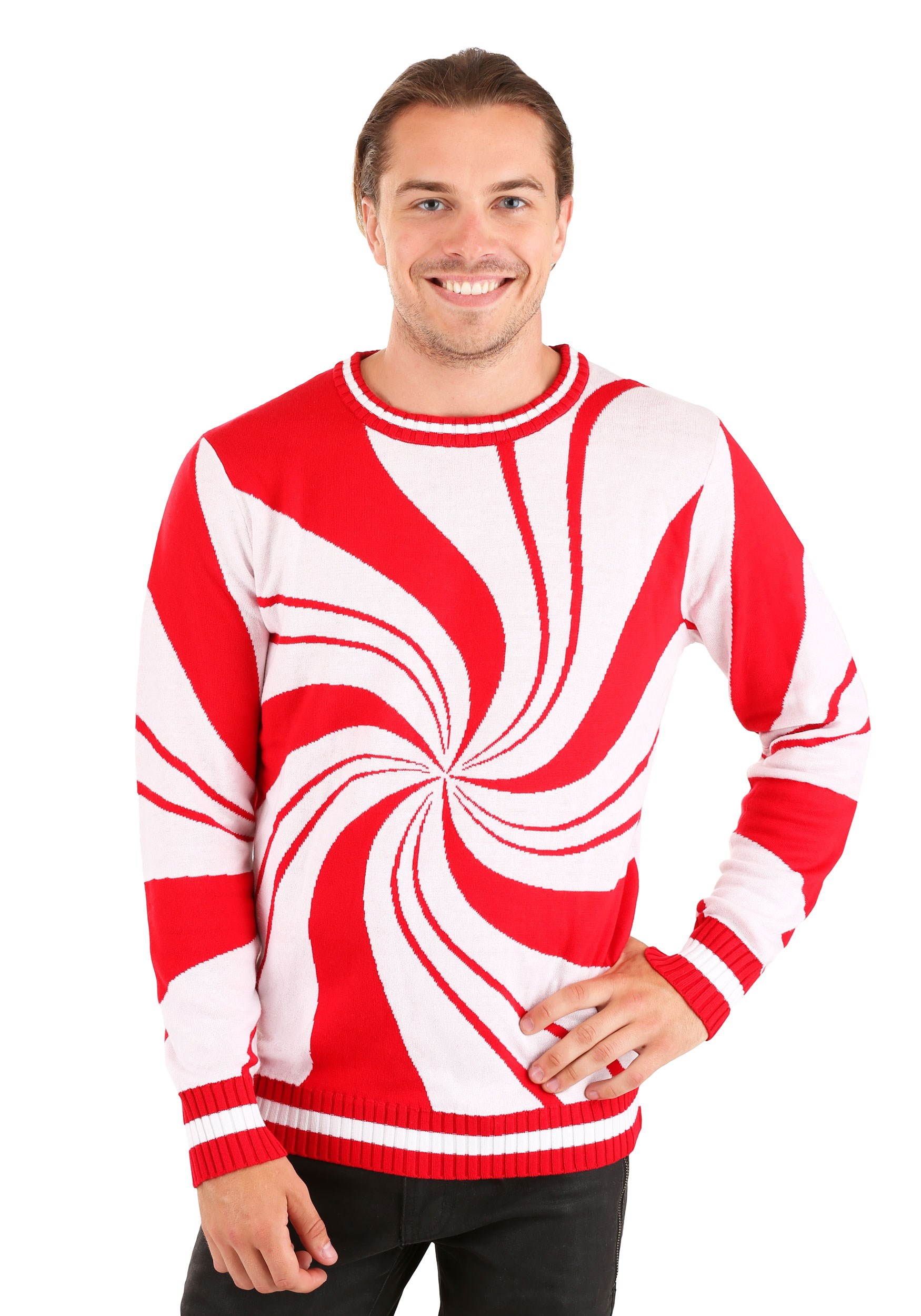 Adult Peppermint Candy Ugly Christmas Sweater