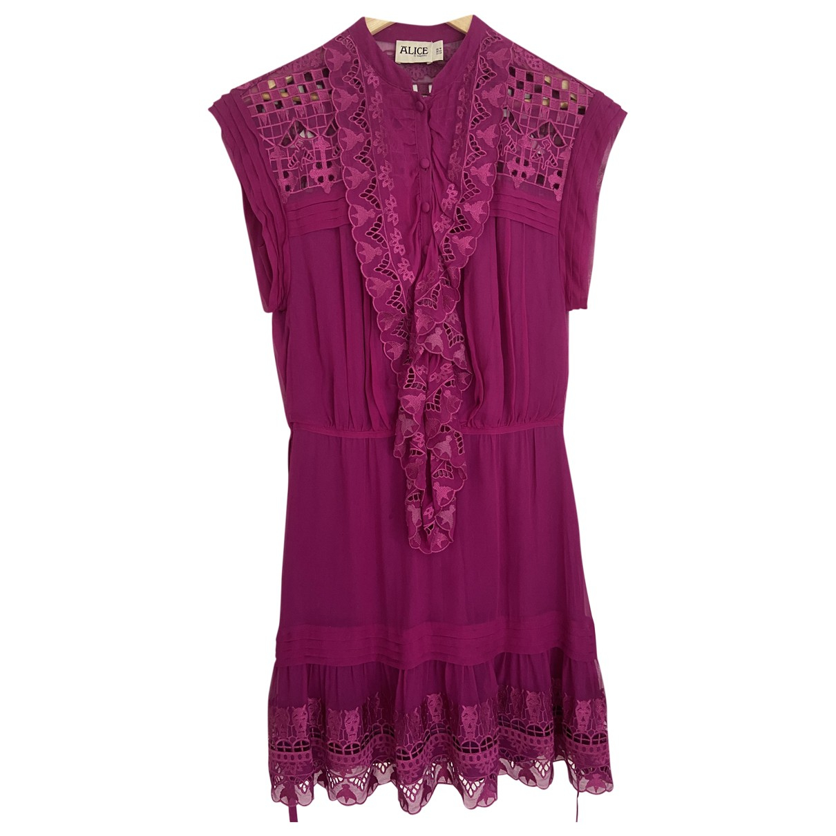Alice By Temperley - Robe   pour femme en soie - rose