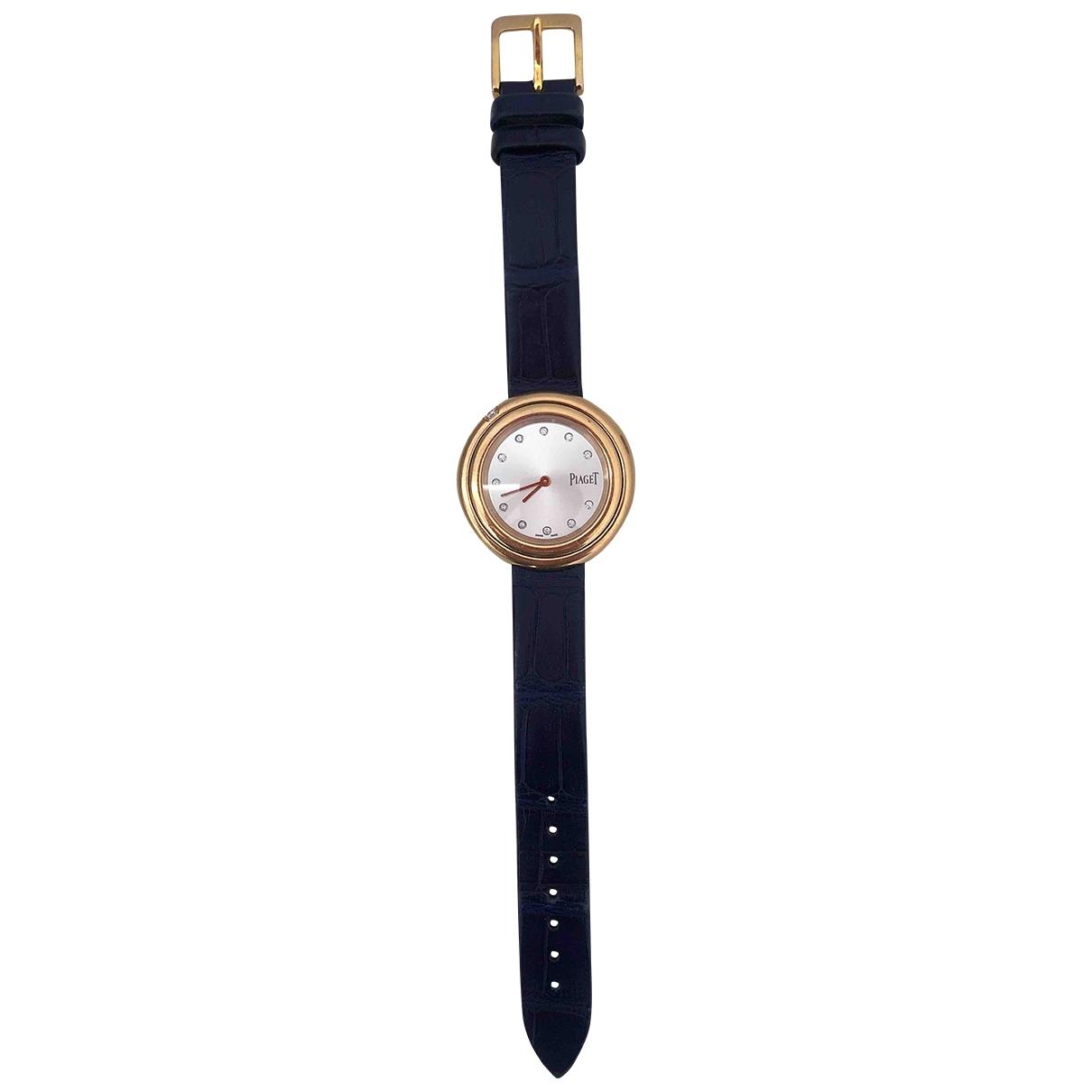 Piaget - Montre Classique pour femme en or rose - bleu