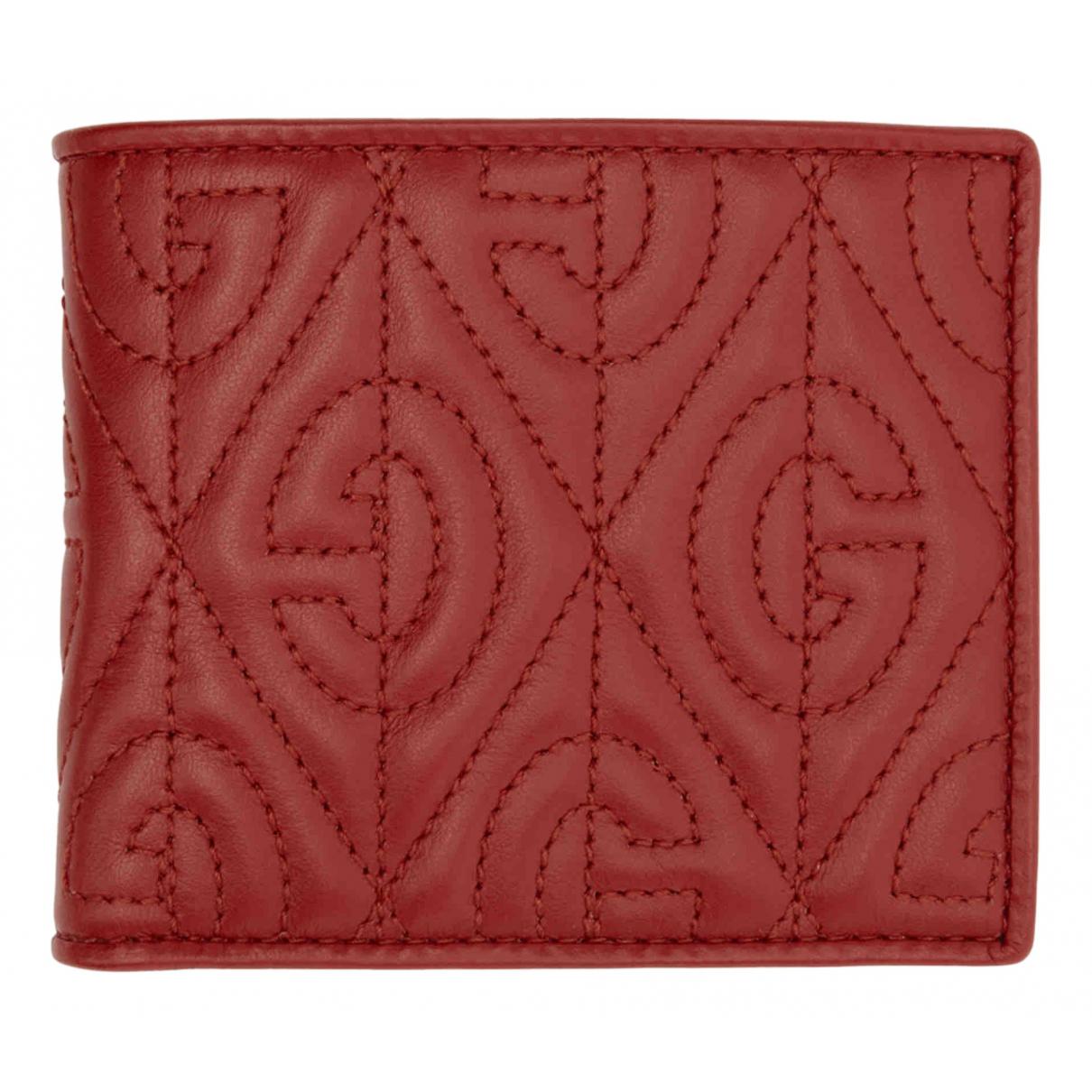 Gucci - Petite maroquinerie   pour homme en cuir - rouge