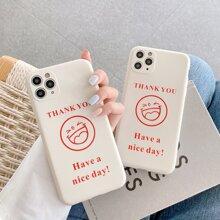 Smiley Face & Slogan iPhone Case