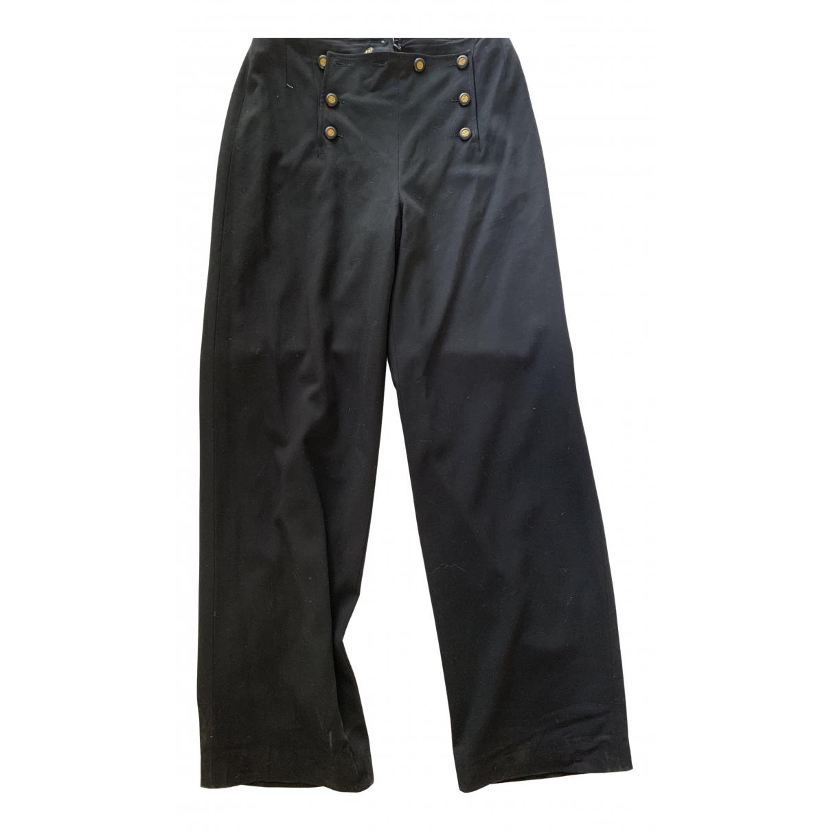 Chanel N Black Wool Trousers for Women 42 FR