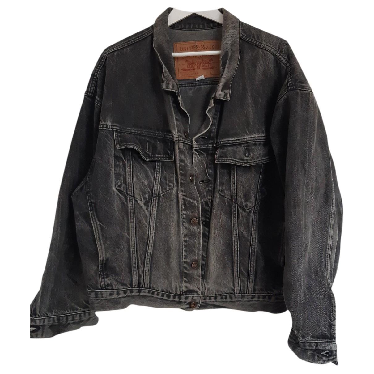 Levis Vintage Clothing - Vestes.Blousons   pour homme en denim - gris