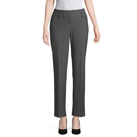 Worthington Curvy Perfect Straight Leg Curvy Fit Straight Trouser, 4 , Gray