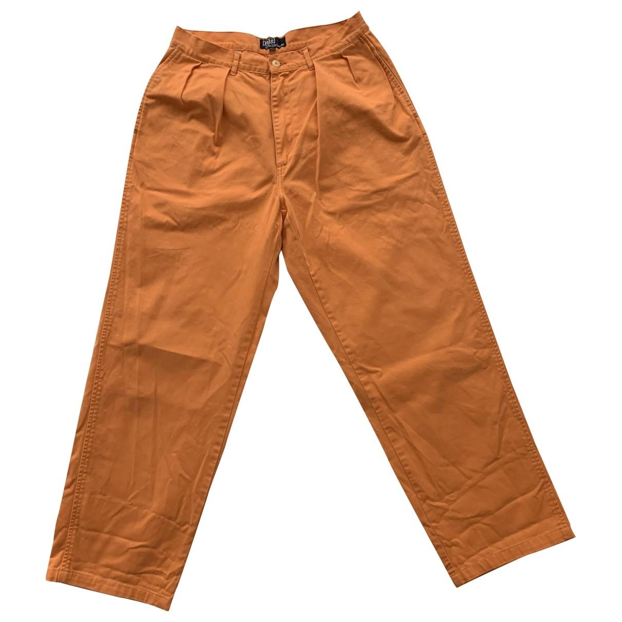 Polo Ralph Lauren \N Orange Cotton Trousers for Men 32 UK - US