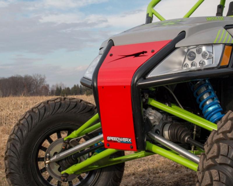 Speedwerx ACWCG-C-R Circle Style Red Aluminum Grill Arctic Cat Wildcat X 1000 13-15