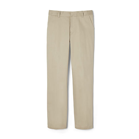 French Toast Little Boys Straight Flat Front Pant, 5 , Brown