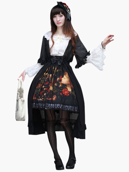 Milanoo High-waisted Cotton Lolita Skirt Original Design