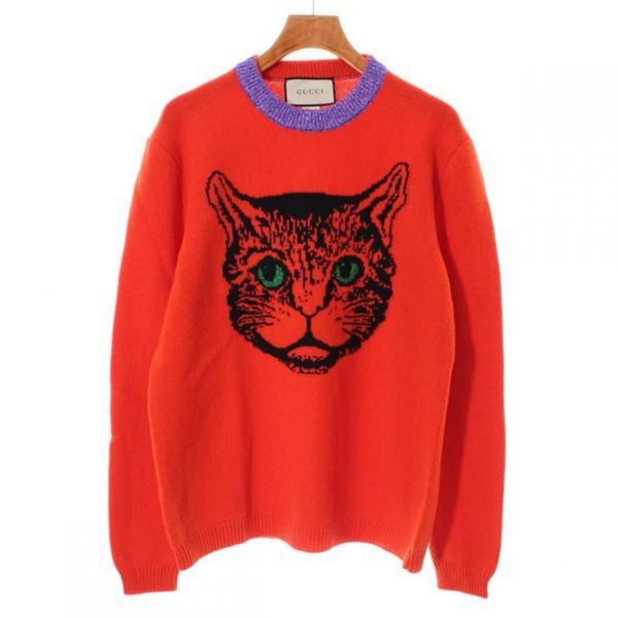Gucci - Pull   pour femme en laine - orange