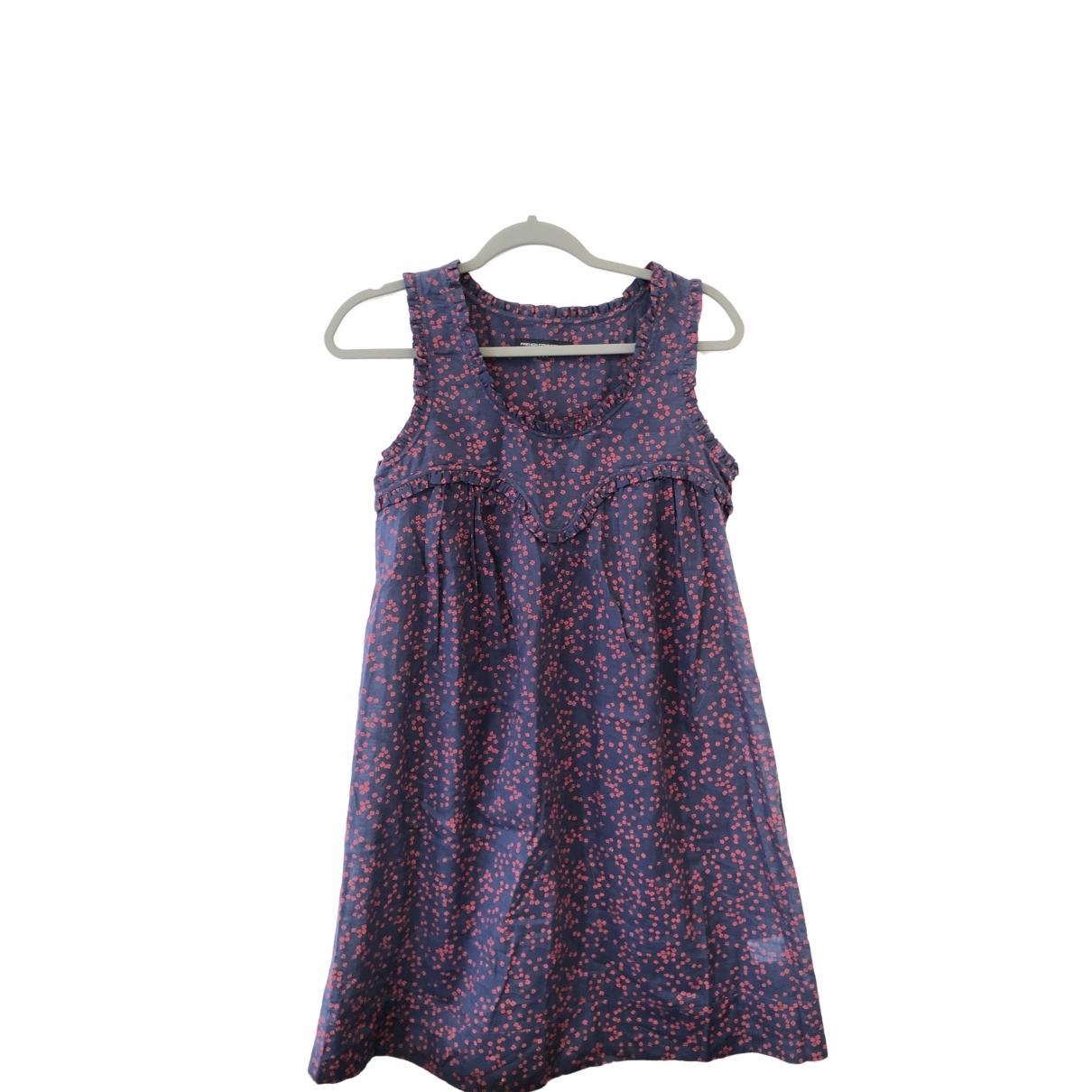 French Connection \N Kleid in  Blau Baumwolle