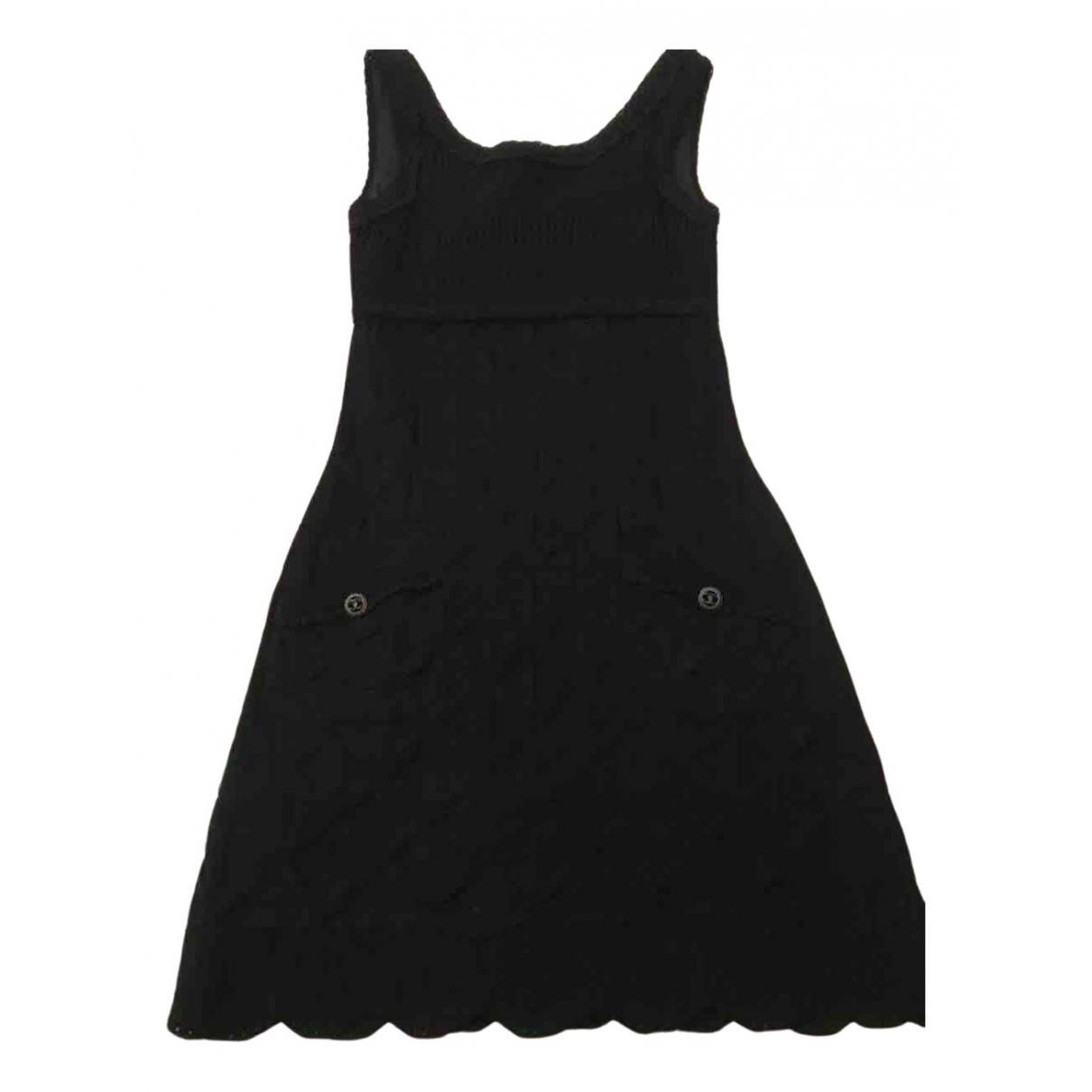 Chanel - Robe   pour femme en coton - noir