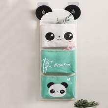 1 Stueck haengende Aufbewahrungstasche mit Karikatur Panda Muster