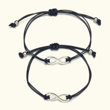 2 Stuecke Infinity Layered Bracelet