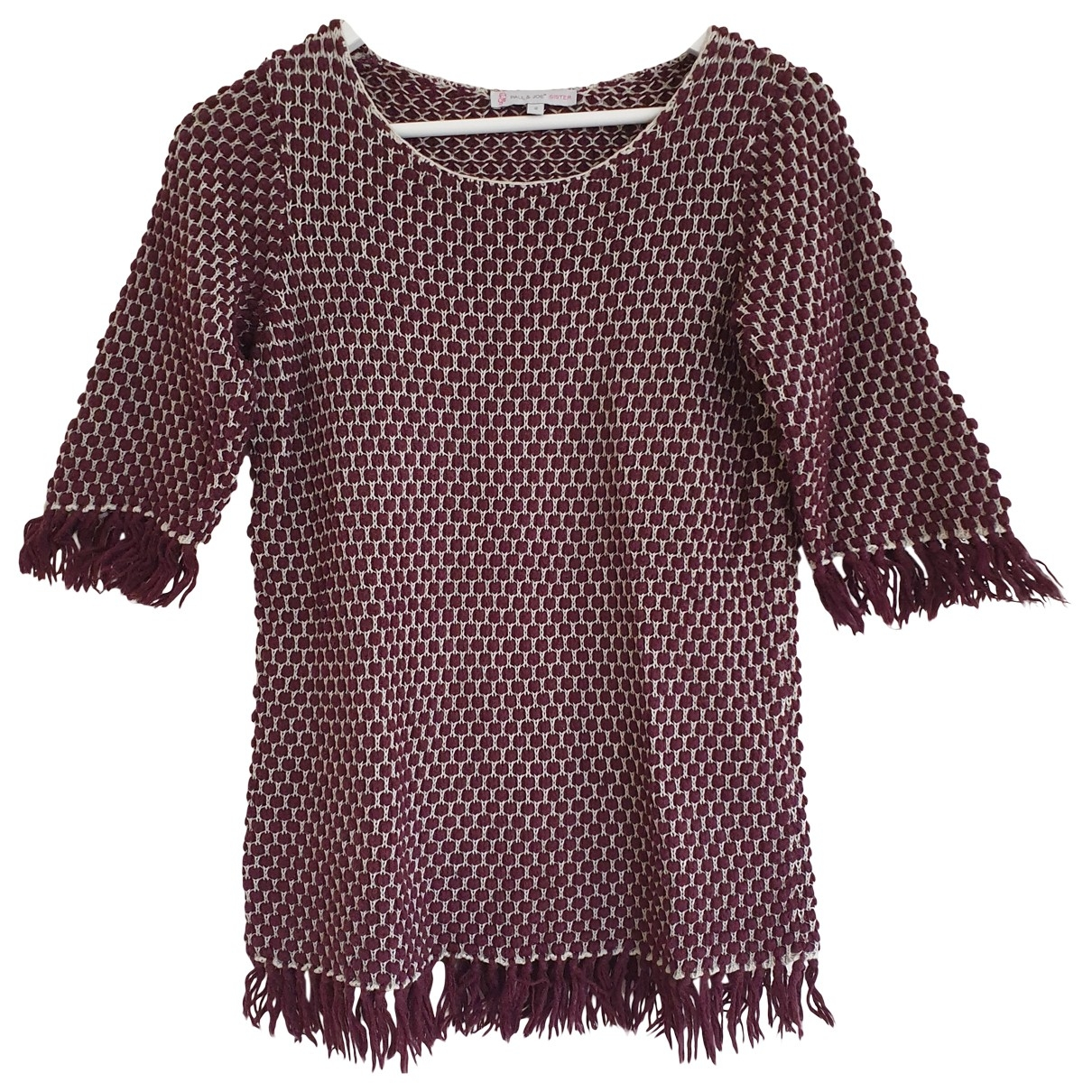 Paul & Joe Sister \N Burgundy Cotton Knitwear for Women 40 FR