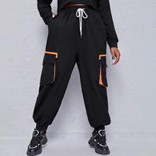 Pantalones Extra Grande Bolsillo Casual