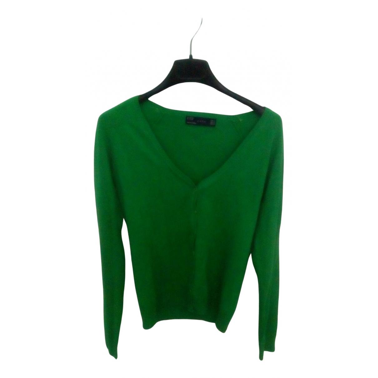 Zara - Pull   pour femme - vert