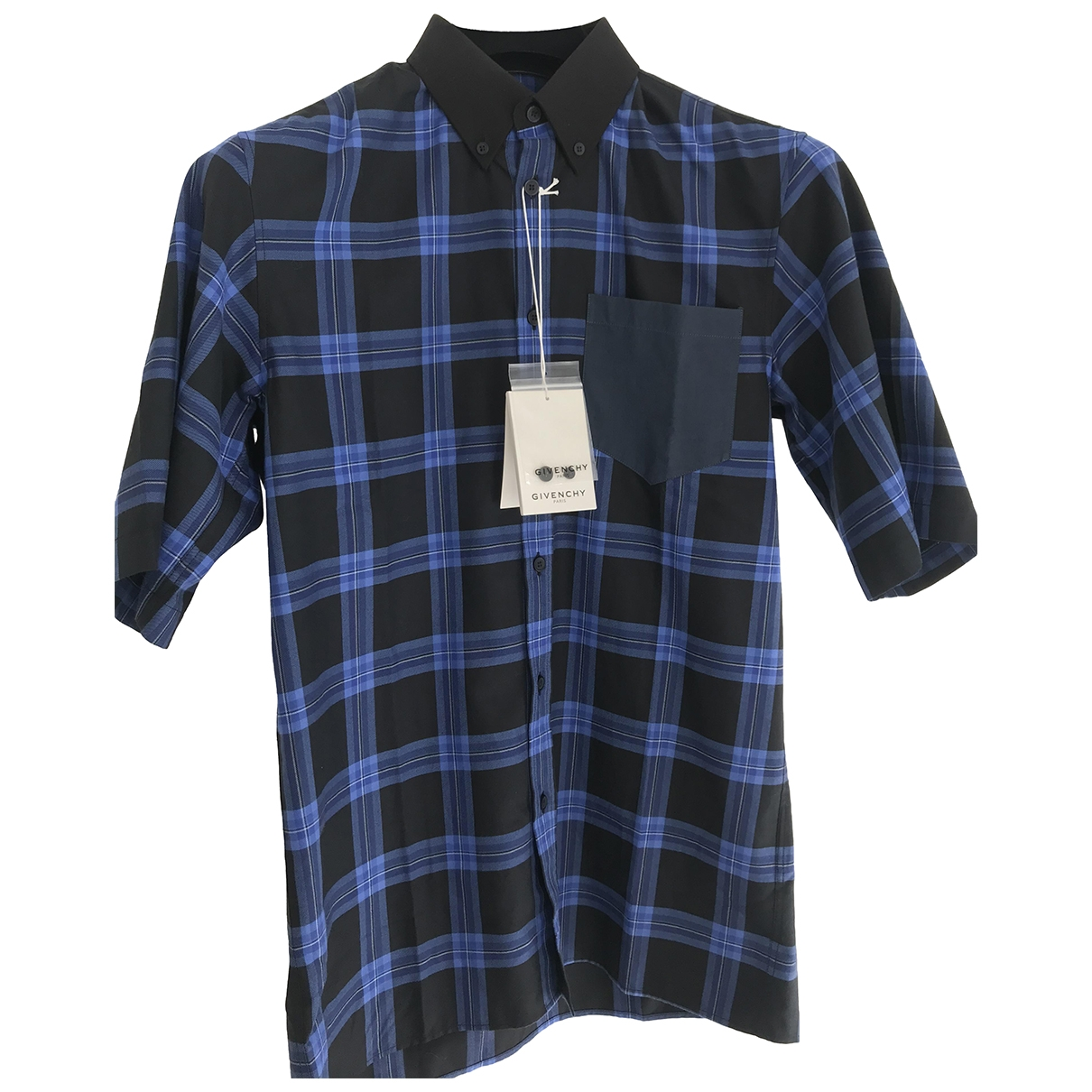 Givenchy - Chemises   pour homme en coton - bleu