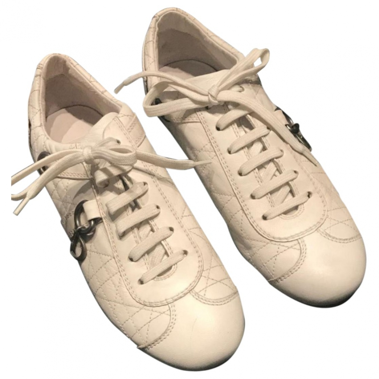 Dior \N White Leather Trainers for Women 37.5 EU