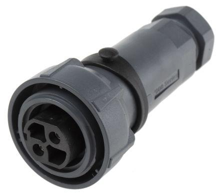 Bulgin Connector, 2 contacts Cable Mount Socket, Screw IP66, IP68, IP69K