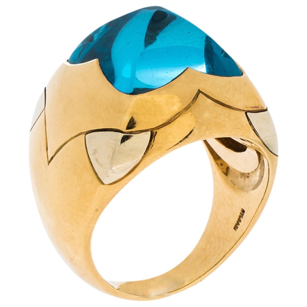 Bvlgari - Bague   pour femme en or jaune - bleu