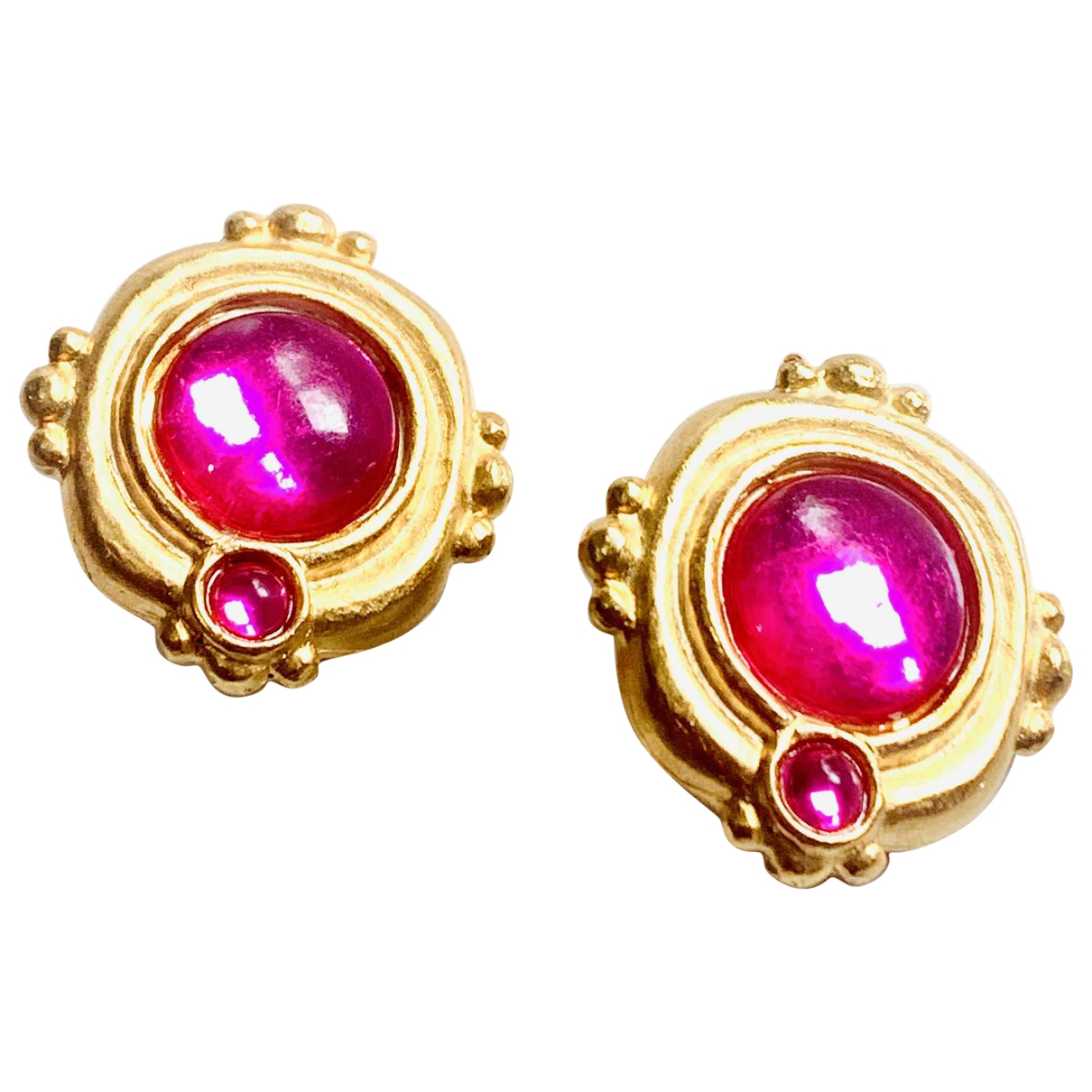Non Signé / Unsigned \N Pink Gold plated Earrings for Women \N