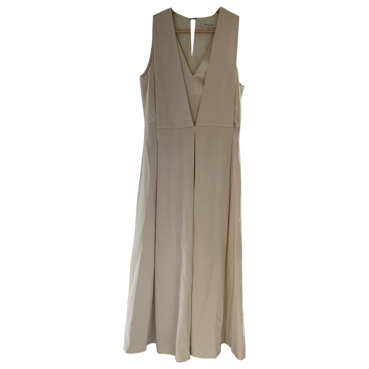 Gerard Darel \N Beige Cotton - elasthane dress for Women 36 FR